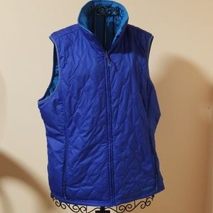 L.L. Bean blue vest jacket size L